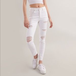 Garage High Waisted Jegging White
